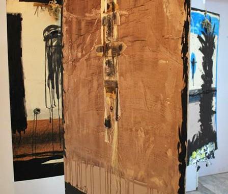 افتتاح المعرض الشخصي الرابع للفنانة نادية فليح تحت عنوان (((جذوع خاويه)))