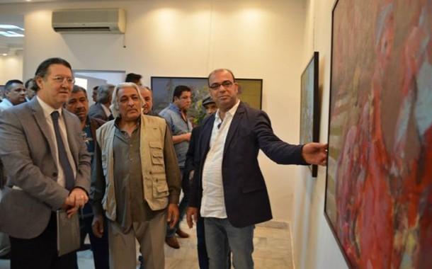 افتتاح المعرض الشخصي (تحويلة مؤقتة) للفنان (( تحسين الزيدي))