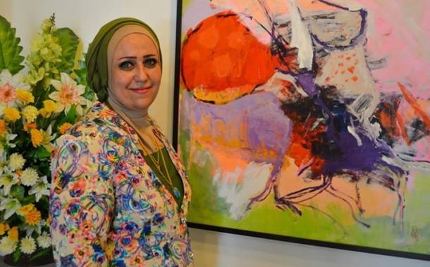 افتتاح المعرض الشخصي الاول للفنانة (( انوار الماشطة )) على قاعة الق للفنون