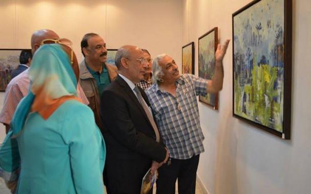 افتتاح المعرض الشخصي للفنانة سهى الجميلي ( المدن القصية ) على قاعة حوار للفنون