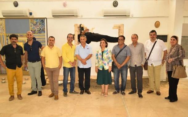 افتتاح المعرض المشترك ( 12+1) لمجموعة من الفنانين التشكيليين