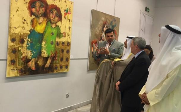 افتتح المعرض التشكيلي المشترك (فيض عراقي) في دولة الكويت لنخبة من الفنانين التشكيليين العراقيين