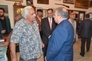 زار رئيس الجمعية الفنان قاسم سبتي وعدد من اعضاء الهيئة الادارية قاعة التتنجي التي تم افتتاحها يوم السبت الموافق 12 -11-2016