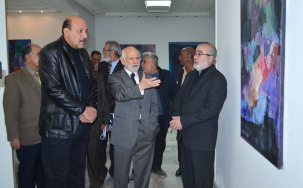 افتتاح المعرض الشخصي ( تدوير الزوايا ) للفنان ( د.اجود العزاوي )