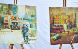 ساهمت جمعية الفنانين التشكيليين في الذكرى المئوية لتأسيس شارع الرشيد بمجموعة من اعمال الرسم