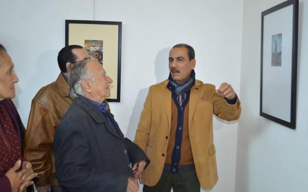 افتتاح مصغرات المعرض الشخصي ( انا والبدر والمطر ) للفنان التشكيلي حسام عبد المحسن