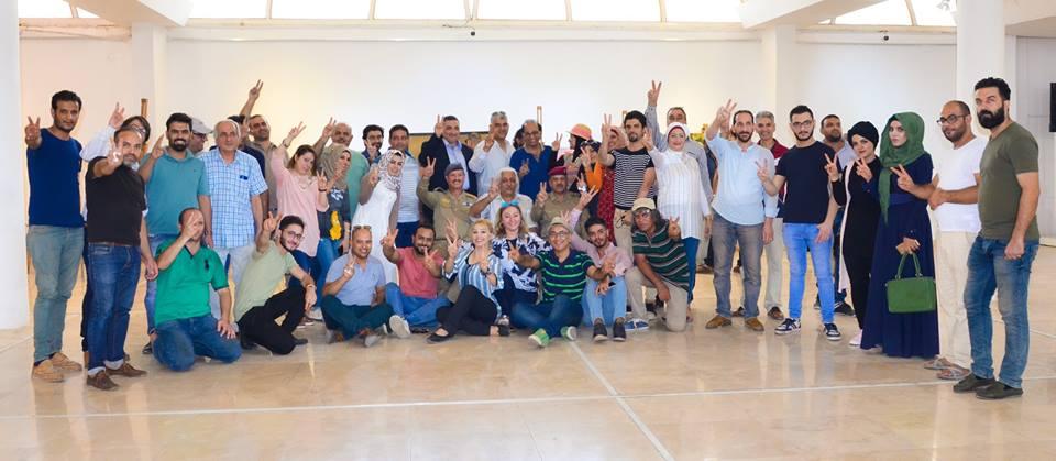 نظمت جمعية الفنانين التشكيليين العراقيين فعالية الرسم الحر بمناسبة الأنتصارات الكبيرة التي حققتها قواتنا المسلحة البطلة