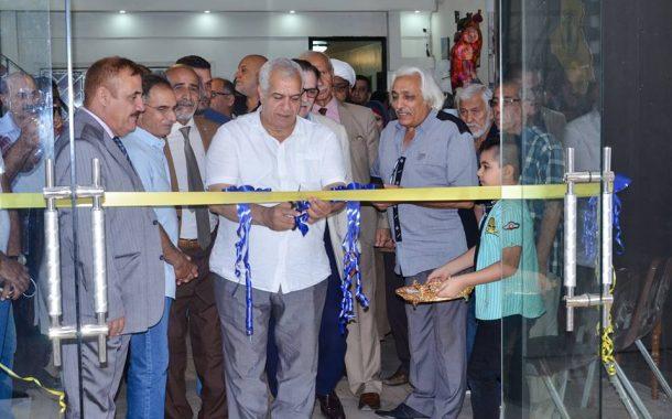 افتتاح المعرض المشترك لفناني البصرة الذي جاء تحت عنوان ( البصرة في ميناء بغداد )