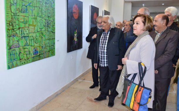 افتتاح المعرض التشكيلي المشترك لفناني بابل تحت عنوان ( فن بابلي في بغداد )