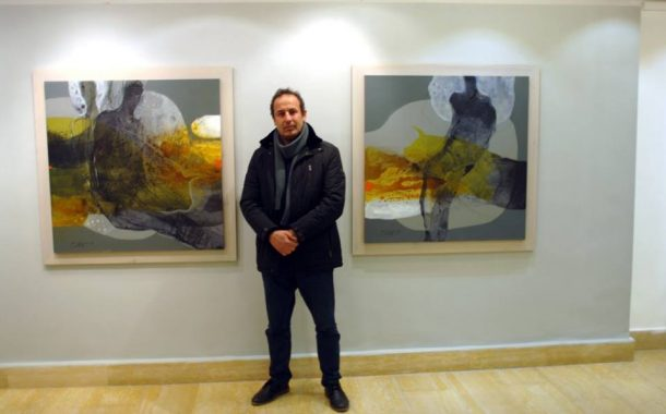 افتتاح المعرض الشخصي للفنان التشكيلي هاني دله علي تحت عنوان ( رمادي )