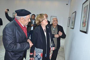 افتتاح المعرض الشخصي لاعمال فن الكاريكاتير للفنان التشكيلي (( عبد سلمان البديري )) تحت عنوان (( ذاكرة ))