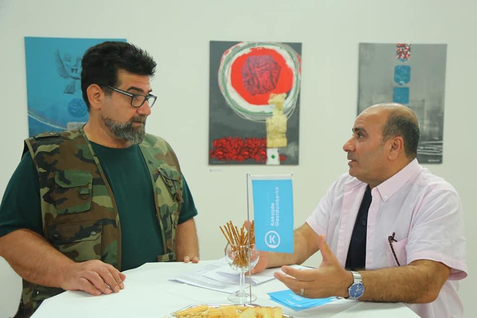 افتتاح المعرض التشكيلي المشترك الذي اقامه كل من الفنانان العراقيان المغتربان ( وائل البدري وغسان العلوچي )