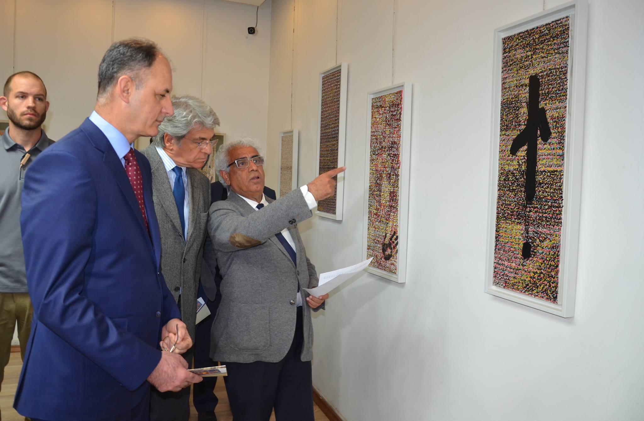 افتتاح المعرض الشخصي الأول للفنان والشاعر د. شوقي عبد الأمير