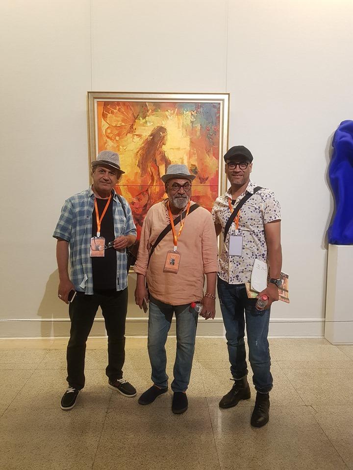 مثل الفنانان علوان العلوان ومحمد مسير العراق في بينالي بكين الثامن