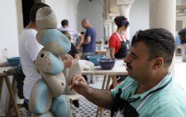 ضمن فعاليات الملتقى الدولي التاسع للخزف الفني الذي اقيم في تونس الخضراء للفترة من ( 26- اب ولغاية 7-ايلول الجاري )