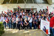 نظمت جمعية الفنانين التشكيليين العراقيين وقفة احتجاجية صدحت فيها حناجر الفنانين المشاركين بحب الوطن ووحدته