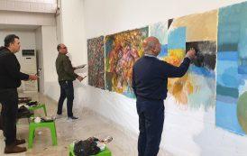 ضيفت الجمعية في مقرها العام في بغداد مجموعة من الفنانين التشكيليين في مبادرة للرسم الحر (سمبوزيوم )