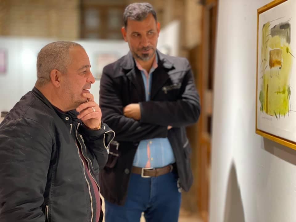 افتتاح المعرض الشخصي للفنان التشكيلي حامد سعيد بعنوان (أشياء تشبه الرسم )